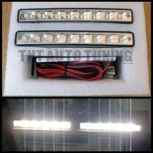 Feux de Jour Diurne DRL Eclairage Lampe 8 LED 2x4W - Renault Kangoo Koleos Wind