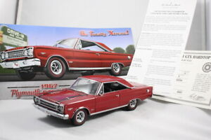 Danbury Mint 1:24 1967 Plymouth GTX Hardtop Red W/ Papers! - Model Car