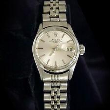 Vintage Rolex Date Lady Stainless Steel Watch Jubilee Bracelet Silver Dial 6516