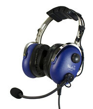 SL-900M SkyLite Aviation Pilot Headset with mp3 input wt Dual Plug for GA - Blue