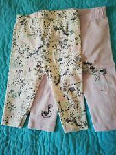 Morrison/'s 2 pack baby girl leggings,nutmeg Bnwt 3-6 mths