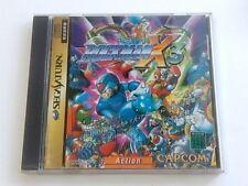 Rockman X3 MEGAMAN SEGA SATURN Game Japan/Gamedisk,manual,case set tested-D-