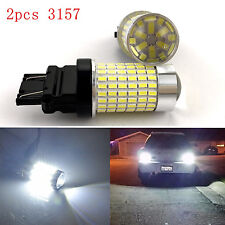 2x 2400lm 3157 Backup Reversing LED Tailing Light BulbHigh Power 144-SMD White