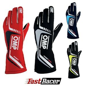 OMP FIRST-EVO Racing Gloves | FIA 8856-2018 Holomogation | IB/767