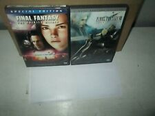 Final Fantasy Movie 1 & 2 rare Sci-Fi Live Action Anime dvd Set Alec Baldwin