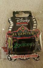Disney DSF DSSH El Capitan Marquee Zootopia Judy Hopps Nick Wilde Pin LE 400