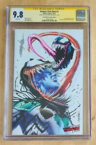 VENOM FIRST HOST #1 CGC SS 9.8  MAYHEW SIGNED/SKETCH NYCC COMIC MINT EXCLUSIVE.