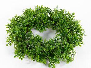 Buchsbaum-/ Koniferenkranz 45cm kräftig-grün FI künstlicher Kranz Buchsbaumkranz