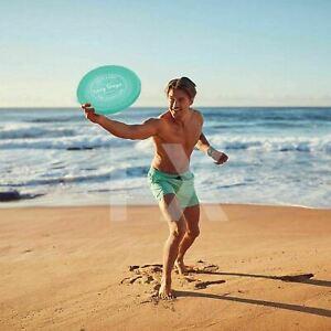 Inflatable Flying Frisbee Beach Pool Toy Neon Flyer Kid Float Play Swim Raft AU