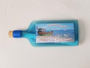 Flaschenpost Sand Strand Post Brief Nachricht Einladungen Geschenk 18x7,5x2 cm