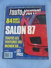 Magazine L' AUTO-JOURNAL toutes les voitures du monde 1987 SALON 1988