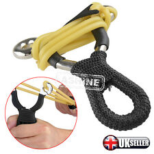 Powerful Alloy Handle Sling Outdoor Catapult Steel Hunting Slingshot UK Stock UK