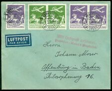 DENMARK : 1934 Very Fine Air Mail cover to Germany. Stamps alone catalog $360.