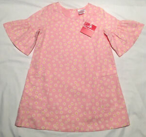 Beautiful HTF Hanna Andersson Flowers Forever Daisy Pink Dress 110 (5) NWT