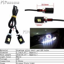 2x White LED License Plate Screw Bolt Light Bulb 12V For Motorcycle Car ATV UTV