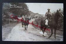Pack Trip JACK & JILL RANCH Montague, MI postcard RPPC 1942, horseback riding