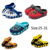 Kid's Soft Summer Beach Breathable Slippers Cartoon Shoes Slip On Hollow Sandals