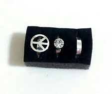 of 3 New Silver Toe Ring Set