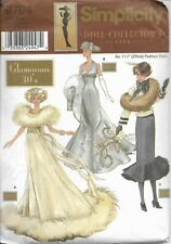 Simplicity Doll Collector's Club Pattern 9704 Glamorous 30s