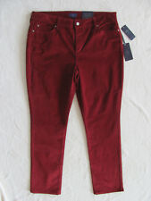 NYDJ Not Your Daughter's Jeans Marilyn Skinny Corduroy- Rust -Size 14- NWT $104