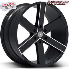 "Velocity VW22 Black Milled 30""x10 Custom Aftermarket Wheels Rims (set of 4)"