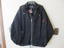 Molson Canadian Beer Jacket Mens Large Black Lightweight  Windbreaker Zipper