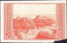 US - 1934 - 2 Cents Red Imperforate Grand Canyon National Parks Issue #757 NGAI