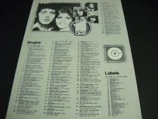 WINGS McCartney Number One Single SILLY LOVE SONGS 1976 Promo Poster Chart