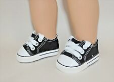 "American Girl Dolls Our Generation 18"" Dolls Clothes Black Sneakers Runners"