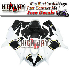 White Injection ABS Fairings Kit For Yamaha YZF R1 02-03 Bodywork Lucky Strike K