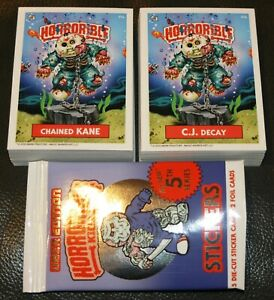 HORRORIBLE KIDS 5TH COMPLETE SET 90 CARDS A/B HORROR LIKE GARBAGE PAIL KIDS