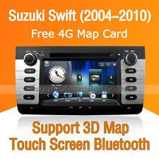 Car Stereo DVD Player GPS Navigation Bluetooth Radio for Suzuki Swift 2004-2010