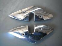 Pair chrome rear peg frame panel cover fairing Hyosung GV250 Aquila 2004 GV 250