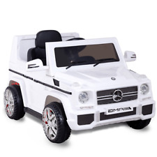Mercedes Benz G65 AMG Licensed Remote Control Kids Riding Car White