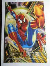 1995 MARVEL METAL: PRINTS Oversized SPIDER-MAN Promo Card  RARE