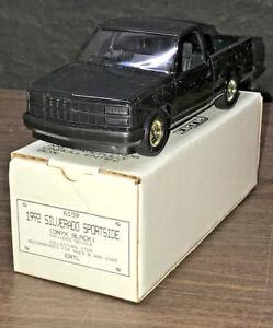 1992 Chevrolet Silverado Sportside Onyx Black #6159 New In Box