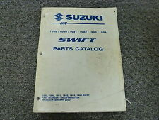 1991 Suzuki Swift Parts Catalog Manual Sedan Hatchback GA GS GT 1.3L