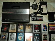 Atari 7800 Console System With Games Tested & Works