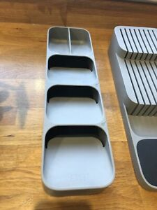 Joseph Joseph DrawerStore Compact Cutlery Organiser Tray, And knife block