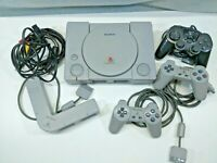 Original SONY Playstation 1 Console PS1 DualShock OFFICIAL CONTROLLER (TESTED!)