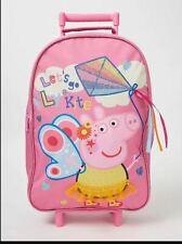 Licensed Kids Girls Peppa Pig Lets Fly a Kite Girls Wheeled Bag Luggage