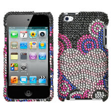 For Apple iPod touch (4th generation) Bubble Hearts Diamante Case Cover