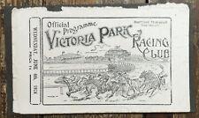 Vintage 1924 Australia Victoria Park Racing Club Horse Racing Program