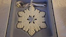Wedgwood Wedgewood Snowflake #03038 #588344 Christmas Holiday Ornament NIB 2013