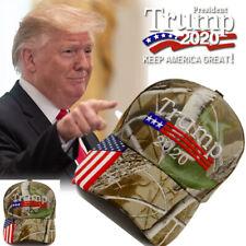 Donald Trump 2020 Cap Camouflage USA Flag Baseball Cap Keep America Great Hat )@
