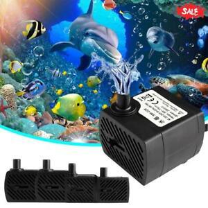Water Pump Ultra-Quiet Submersible Fountain Filter Fish Tank Pond Aquarium Pumps