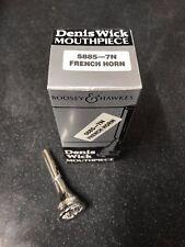 DENIS WICK 7N French Horn Mouthpiece-Neuf, non utilisé Plaqué Argent -