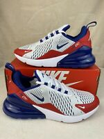 Nike Air Max 270 GS Shoes White/Red/Blue CW5855-100 Youth Size 7Y Women's 8.5