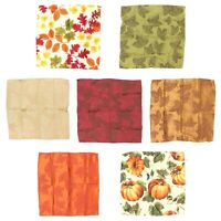 Harvest Season Fall Autumn Thanksgiving Napkins - Cascading Leaves - Set of 4