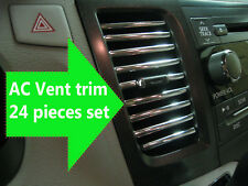 NEW 24 pcs Chrome Interior Dash AC VENT TRIM Molding Kit - ford models #1